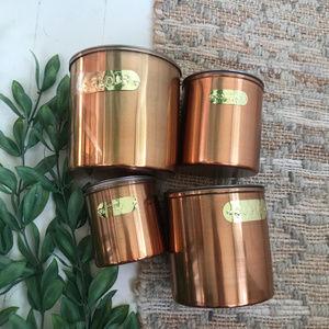 Vintage Faux Copper Canister Set